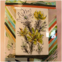 Green Leucadendron Wall Panel